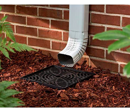 No Dig Low Profile Catch Basin Downspout Extension Kit Mulch