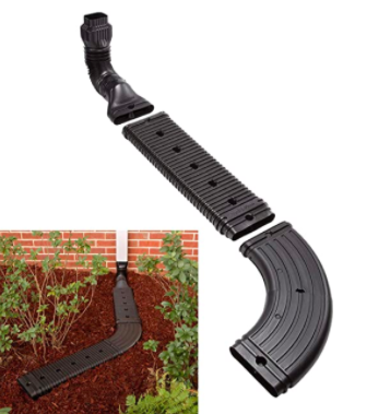 Low Profile Downspout Adapter Drainage Kit with Extension 03