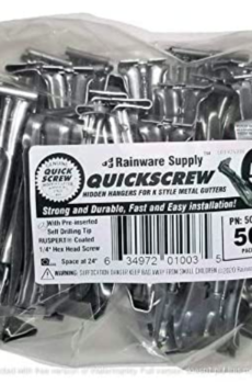 Quick Screw 522 Premium Hidden Rain Gutter Hanger Brackets