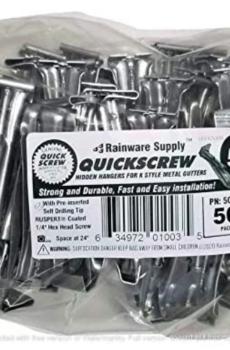 Quick Screw 522 Premium Hidden Rain Gutter Hanger Brackets