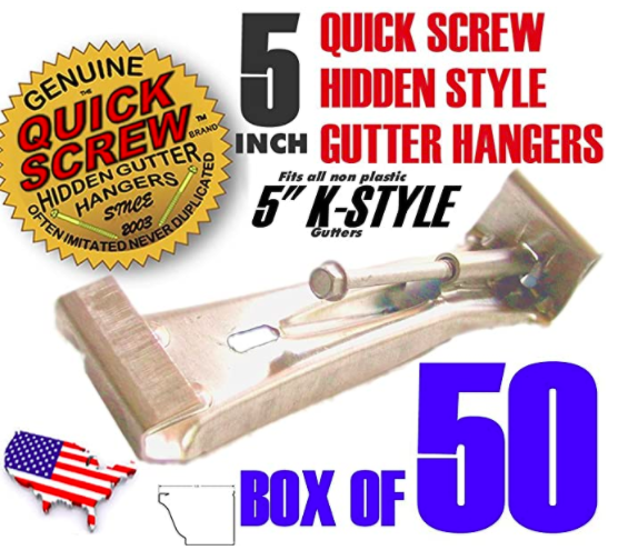 Quick Screw 522 Premium Hidden Rain Gutter Hanger Brackets 00