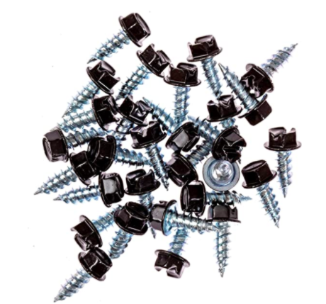 Eagle 1 Black 8 Gutter Downspout Zip Screws with Easy Start Sharp Tip 00