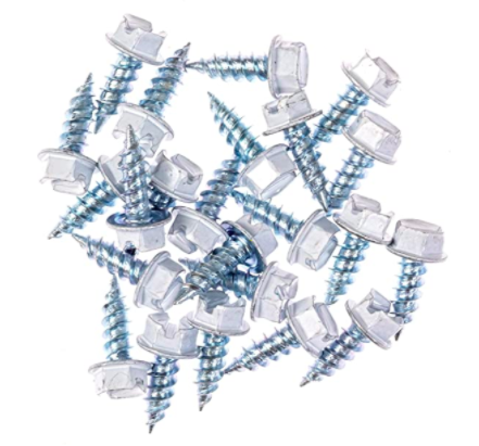 Eagle 1 White 8 Gutter Downspout Zip Screws with Easy Start Sharp Tip