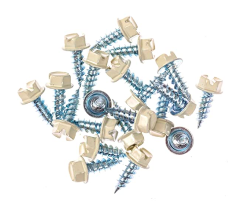 Eagle 1 Almond 8 Gutter Downspout Zip Screws with Easy Start Sharp Tip