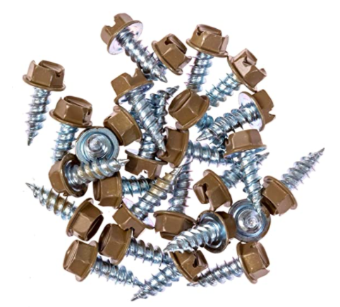 Eagle 1 Cocoa Brown 8 Gutter Downspout Zip Screws with Easy Start Sharp Tip