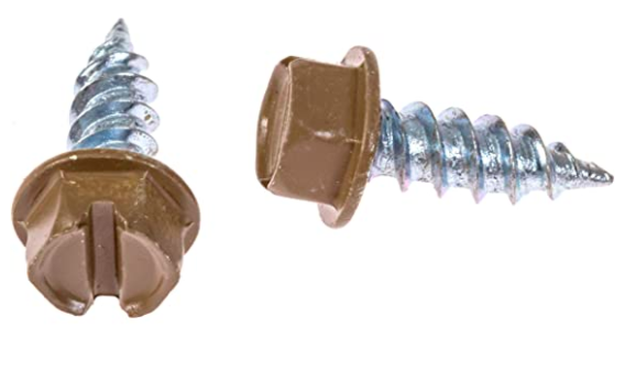 Eagle 1 Cocoa Brown 8 Gutter Downspout Zip Screws with Easy Start Sharp Tip 02