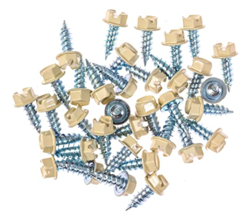 Eagle 1 Cream 8 Gutter Downspout Zip Screws with Easy Start Sharp Tip