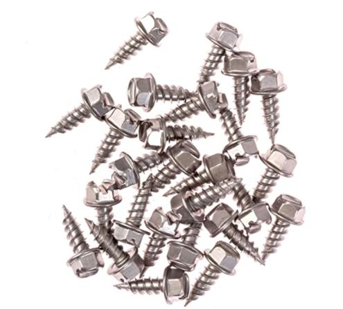 Eagle 1 Zinc 8 Gutter Downspout Zip Screws with Easy Start Sharp Tip