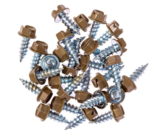 Eagle 1 Dove Grey 8 Gutter Downspout Zip Screws with Easy Start Sharp Tip