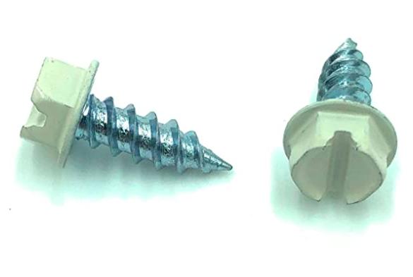 Eagle 1 Eggshell 8 Gutter Downspout Zip Screws with Easy Start Sharp Tip 02