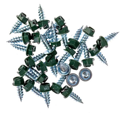 Eagle 1 Forest Green 8 Gutter Downspout Zip Screws with Easy Start Sharp Tip
