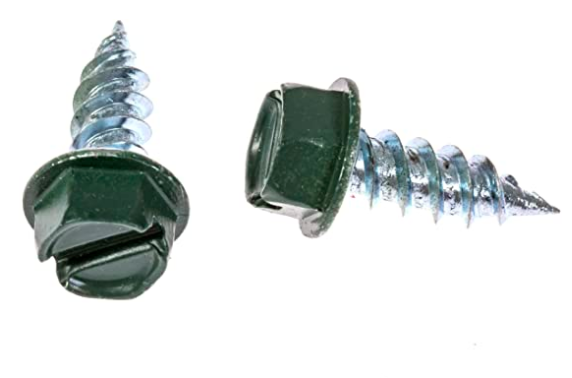 Eagle 1 Forest Green 8 Gutter Downspout Zip Screws with Easy Start Sharp Tip 00