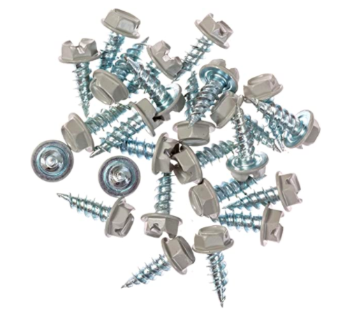 Eagle 1 Pearl Grey 8 Gutter Downspout Zip Screws with Easy Start Sharp Tip