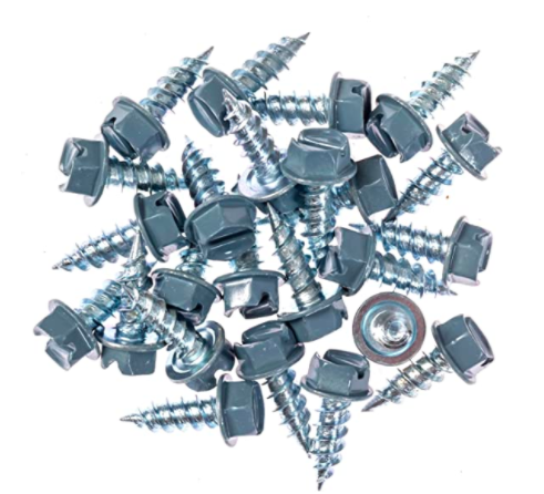 Eagle 1 Traditional Blue 8 Gutter Downspout Zip Screws with Easy Start Sharp Tip