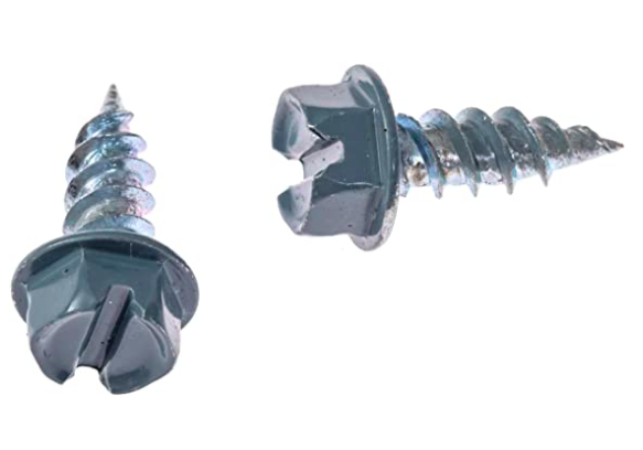 Eagle 1 Traditional Blue 8 Gutter Downspout Zip Screws with Easy Start Sharp Tip 00