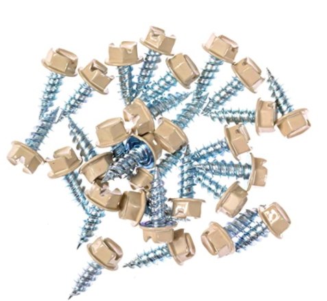 Eagle 1 Wicker 8 Gutter Downspout Zip Screws with Easy Start Sharp Tip