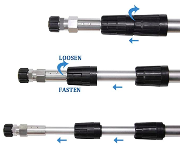 Twinkle Star 4000 PSI Commercial Grade Telescoping Pressure Washer Wand 02